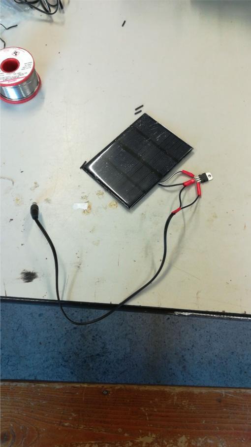 Panel solar terminado