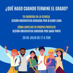 """""""¿QUÉ HAGO CUANDO TERMINE EL GRADO?""""- workshop orientativo"""