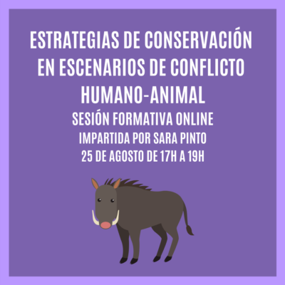 """""""ESTRATEGIAS DE CONSERVACIÓN EN ESCENARIOS DE CONFLICTO HUMANO-ANIMAL"""" – Sesión Formativa Online"""