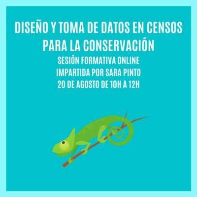 """""""DISEÑO Y TOMA DE DATOS EN CENSOS PARA LA CONSERVACIÓN""""- Sesión Formativa Online"""