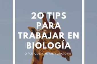 """20 """"TIPS"""" PARA TRABAJAR EN BIOLOGÍA"""