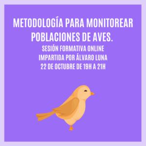 """""""METODOLOGÍA PARA MONITOREAR POBLACIONES DE AVES"""" – Sesión Formativa Online"""